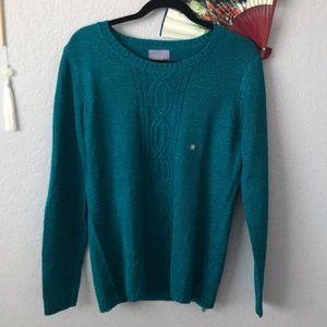 Laura Scott Cable Knit Sweater (Medium)